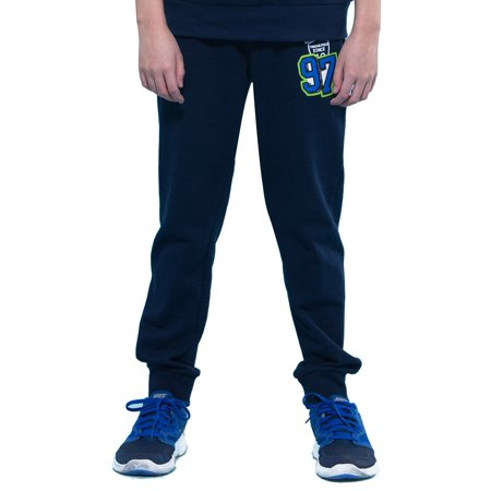 Boys Navy Linen Trousers (Leo&Lily Boys' Sports Fleece Elastic Waist Husky Joggers Pants)