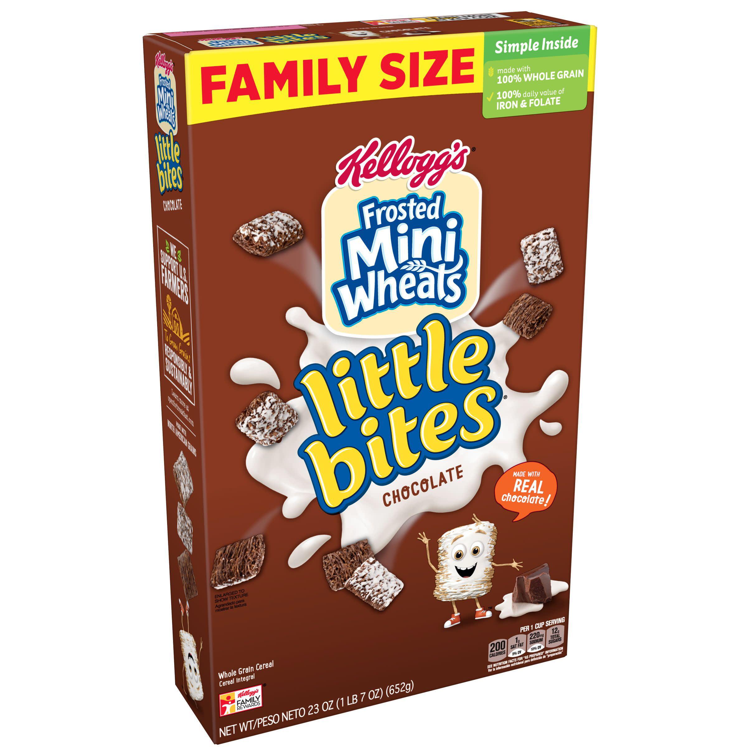 Kellogg's Frosted Chocolate Mini-Wheats Little Bites