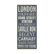 Artehouse LLC London Transit by Cory Steffen Textual Art Plaque