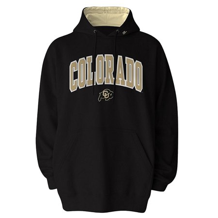 Colorado Buffaloes Officially Licensed Embroidered Logo Pullover Hooded Fleece Sweatshirt Hoodie (Medium)