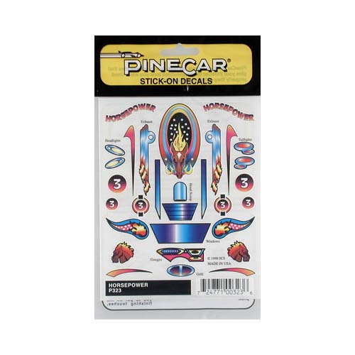 P323 Horsepower Stick-On Decal Multi-Colored
