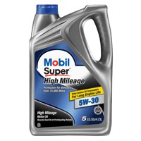 Mobil Super High Mileage Synthetic Blend Motor Oil 5W-30, 5 Quart