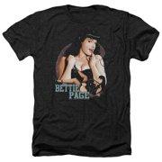 Bettie Page Good Vs Bad Mens Heather Shirt