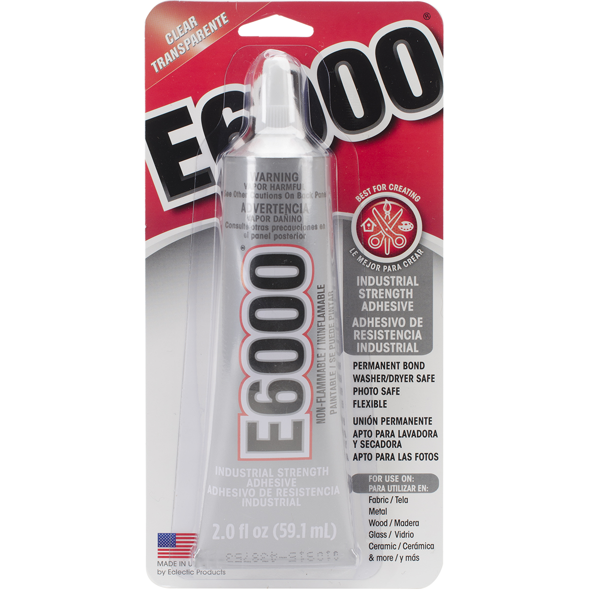 E6000 Multipurpose Adhesive 2oz Clear