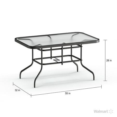 "Image of ""Flash Furniture 31.5"""" x 55"""" Rectangular Tempered Glass Metal Table"""