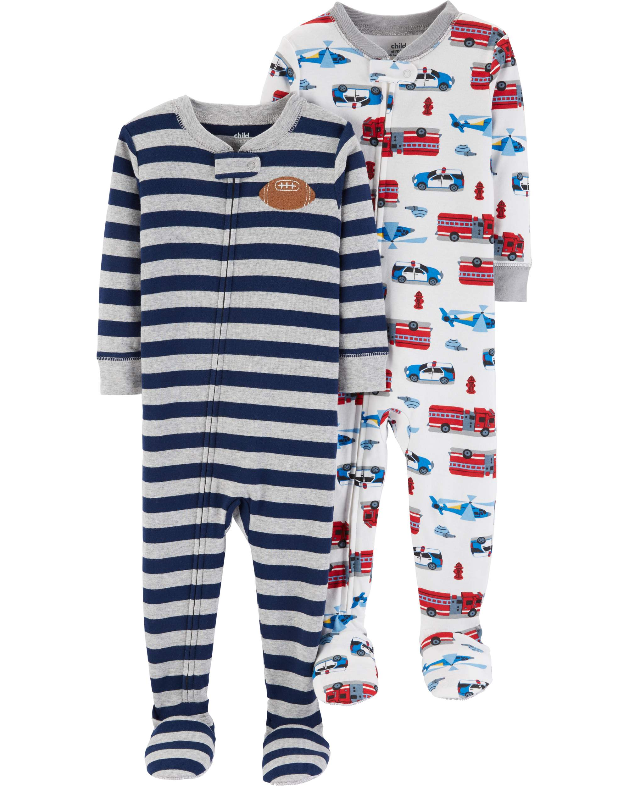 Child of Mine by Carter's Footed Blanket Sleeper, 2-pack (Baby Boys & Toddler Boys)