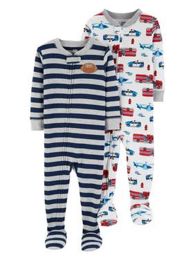 62450f39b Blue Boys One-piece Pajamas - Walmart.com