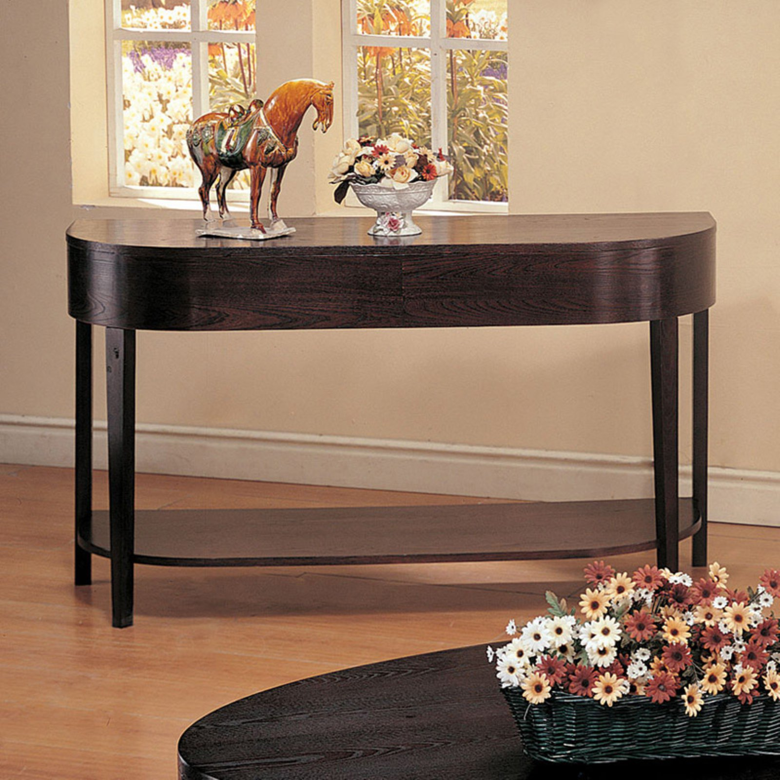 Coaster Furniture Wood Top Sofa Table Cappuccino by Coaster Company