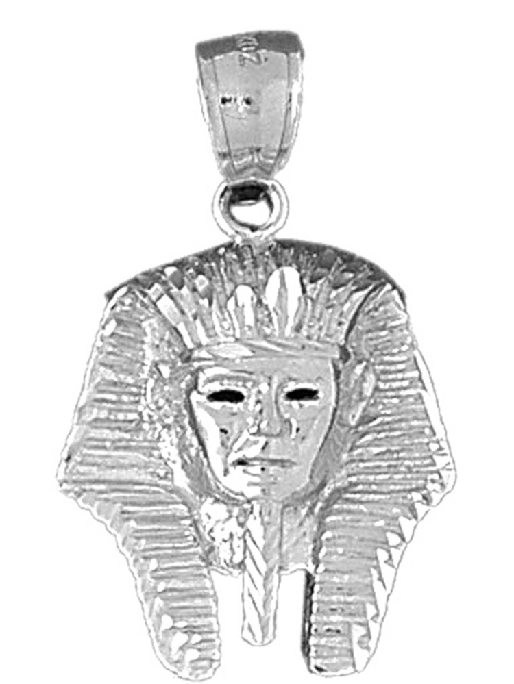 Sterling Silver 31mm King Tut with 7.5 Charm Bracelet Jewels Obsession King Tut Pendant