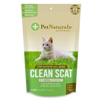 Pet Naturals of Vermont Clean Scat, Digestive Support and Litter Box Odor Control for Cats, 45 Bite-Sized Chews