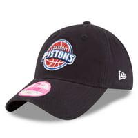 Detroit Pistons New Era Women's Team Glisten 9TWENTY Adjustable Hat - Navy - OSFA