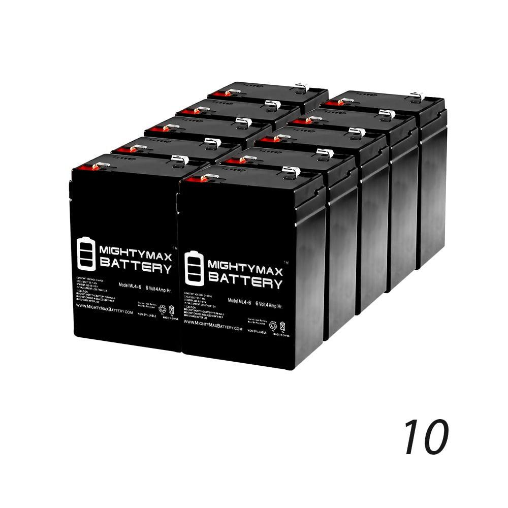 6V 4.5Ah Wheelchair Medical Mobility SLA Battery - 10 Pack