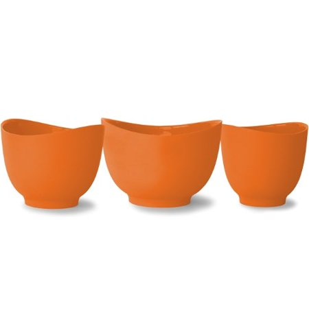iSi Basics Flexible Silicone Mixing Bowl, Set Of 3, 1-Quart, 1-1/2 ...