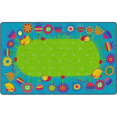 "Flagship Carpets Kids Learning Essential Good Morning Garden Educational Rug Nylon Rectangle 7'6"" x 12' - Walmart.com"