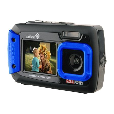 Ivation 20MP Underwater Shockproof Digital Camera, LCD Display (Best Camera For Underwater Photography 2019)