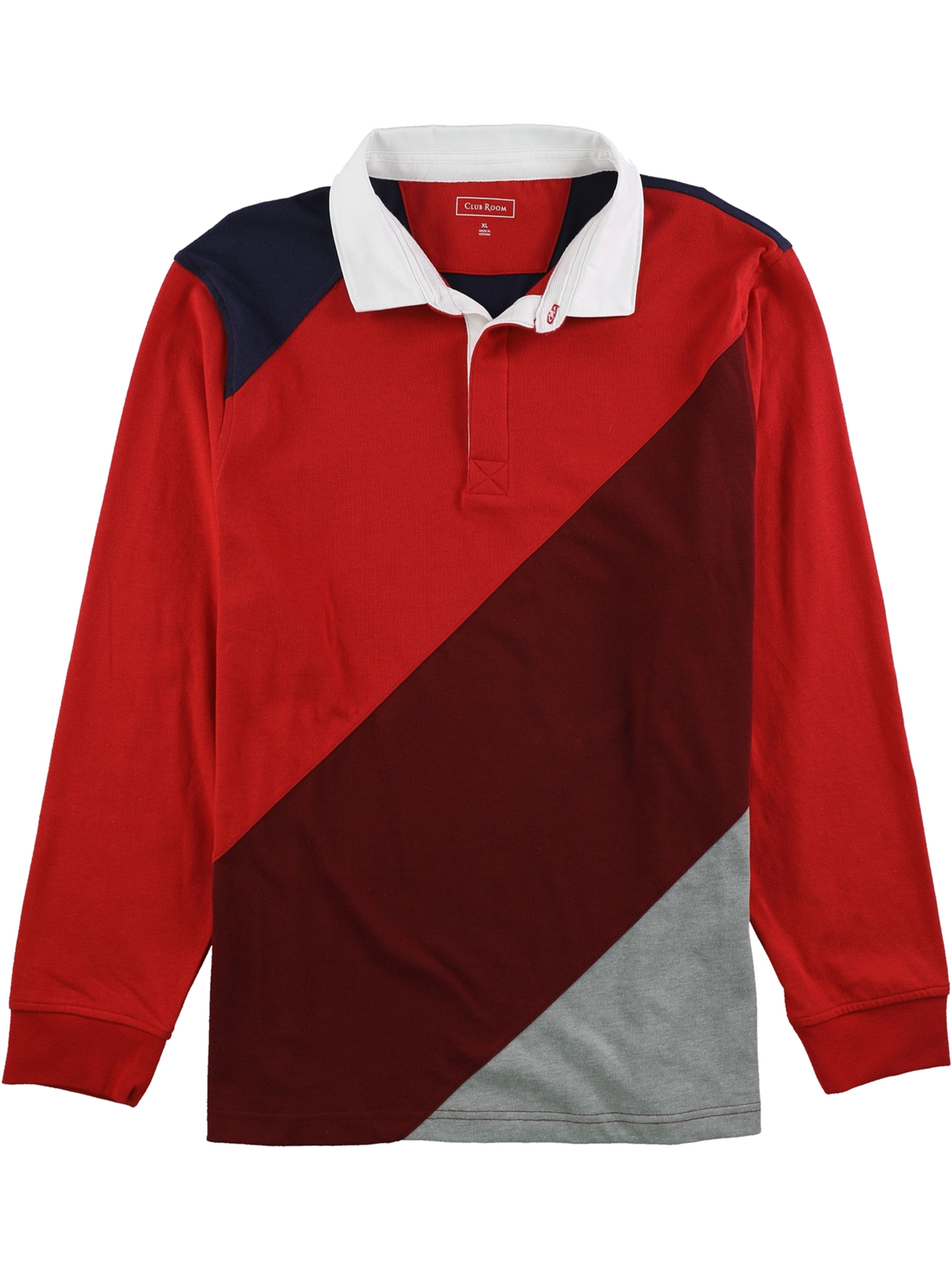 Club Room Mens LS Rugby Polo Shirt
