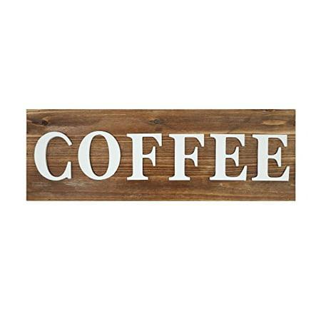 "Barnyard Designs Coffee Sign Rustic Primitive Farmhouse Decorative Wood Wall Decor for Kitchen, Bar, Cafe 23.5"" x 8"""