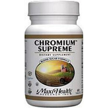 Chrome supérieures Maxi-Health 120 Tabs