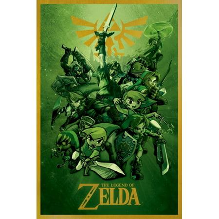 Links The Legend Of Zelda Nintendo Video Game Series Poster - 24x36 inch - Nintendo Halloween Posters