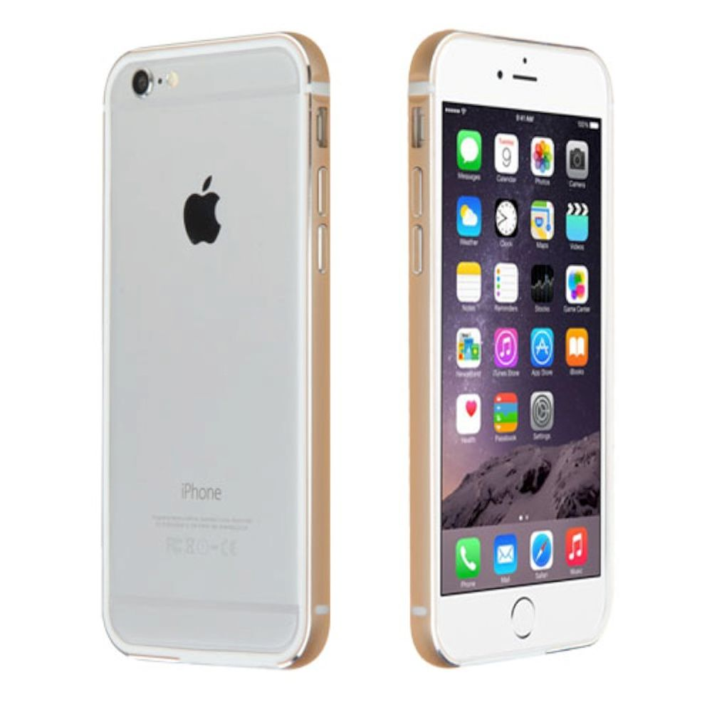 "Insten Ultra Slim Aluminum Metal Bumper Case (No Signal Affect) for iPhone 6s Plus / 6 Plus 5.5"" - Gold"