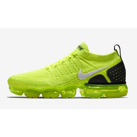 Mens Nike Air VaporMax Flyknit 2 Volt White Black 942842-700