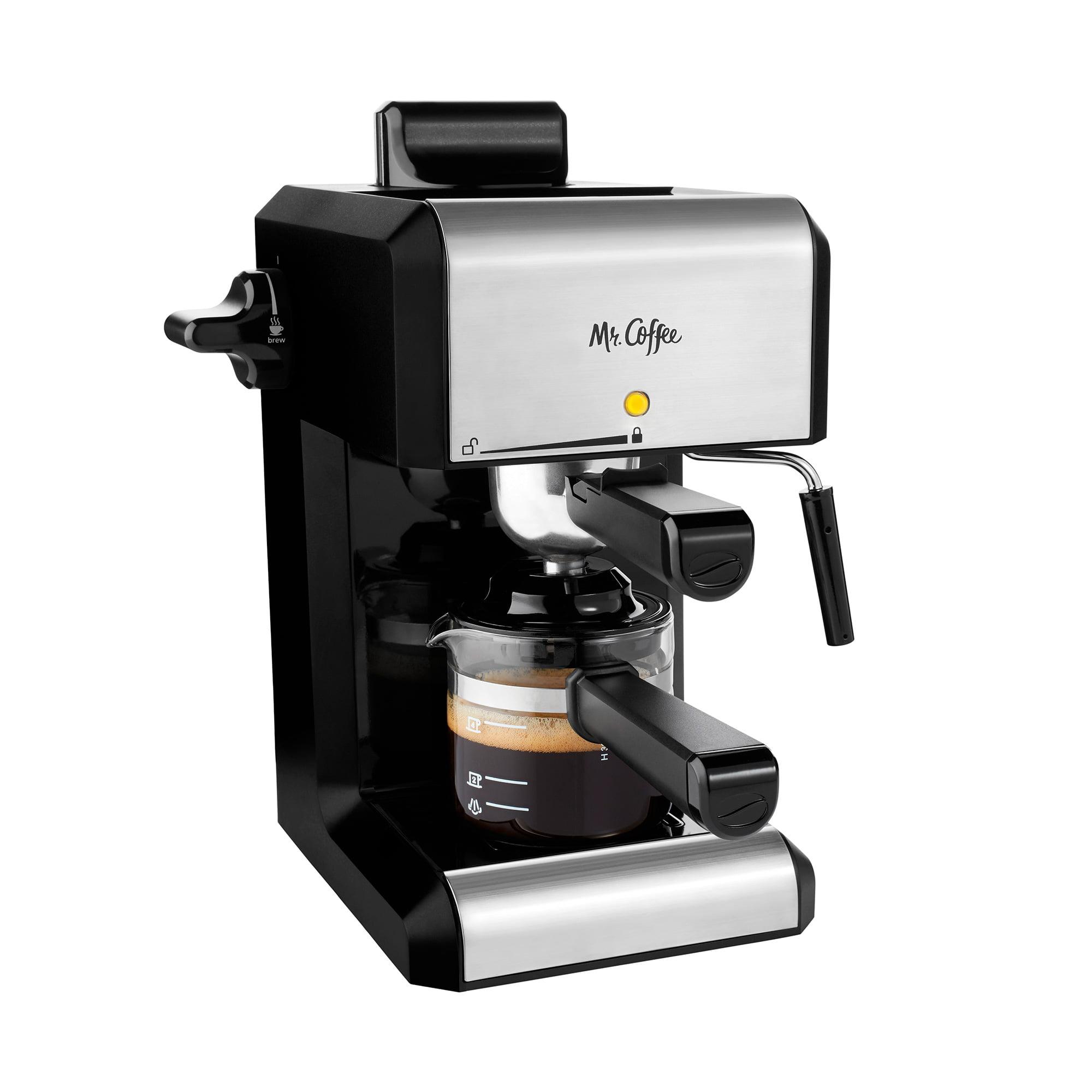 Mr. Coffee Café 20-Ounce Steam Automatic Espresso and Cappuccino Machine, Silver