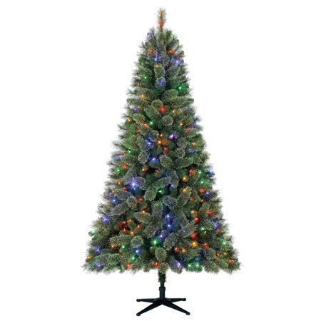 Holiday Time Pre-Lit 7.5' Liberty Pine Artificial Christmas Tree, Color Changing-Lights ()