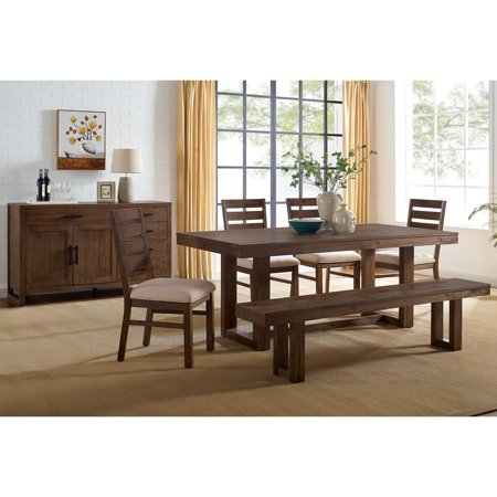 Furniture of America Bostin Rustic Wooden Dining Table, Natural Tone