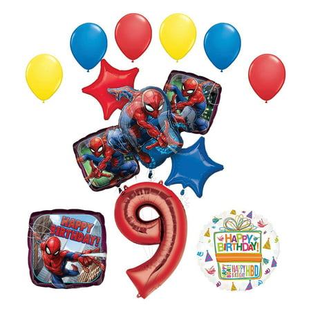 The Ultimate Spider Man 9th Birthday Party Supplies And Balloon Decorations