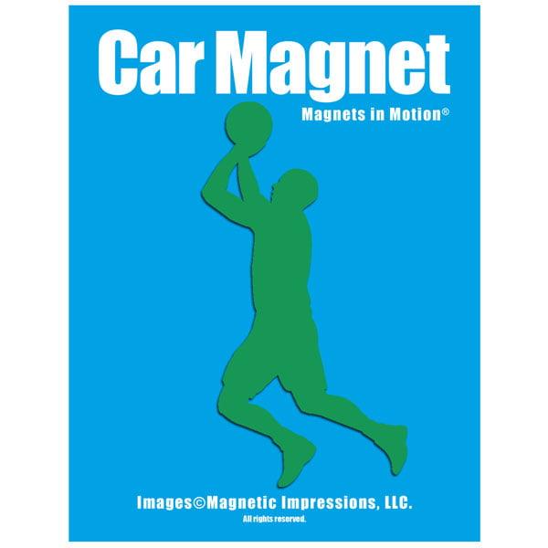 Basketball Player Men's Car Magnet Chrome