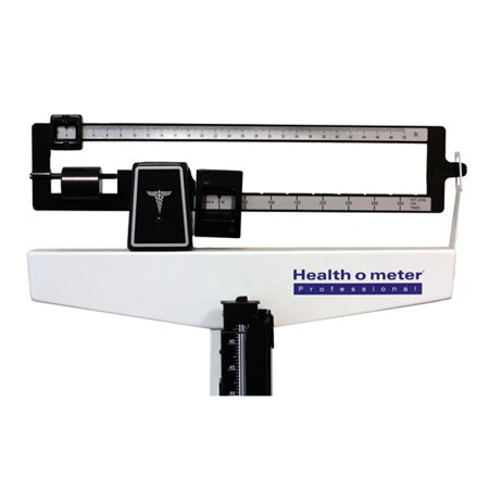 Spring Balance Scale - HealthOMeter 402LBWH (402LB & Wheels) Physician Balance Beam Scale