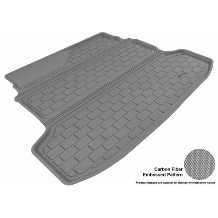 3D Maxpider 2010 2013 Kia Forte Sedan All Weather Cargo Liner In Gray With Carbon Fiber Look