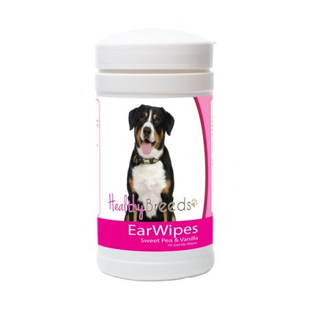 Healthy Breeds 840235180128 Entlebucher Mountain Dog Ear Wipes - 70 Count - image 1 de 1