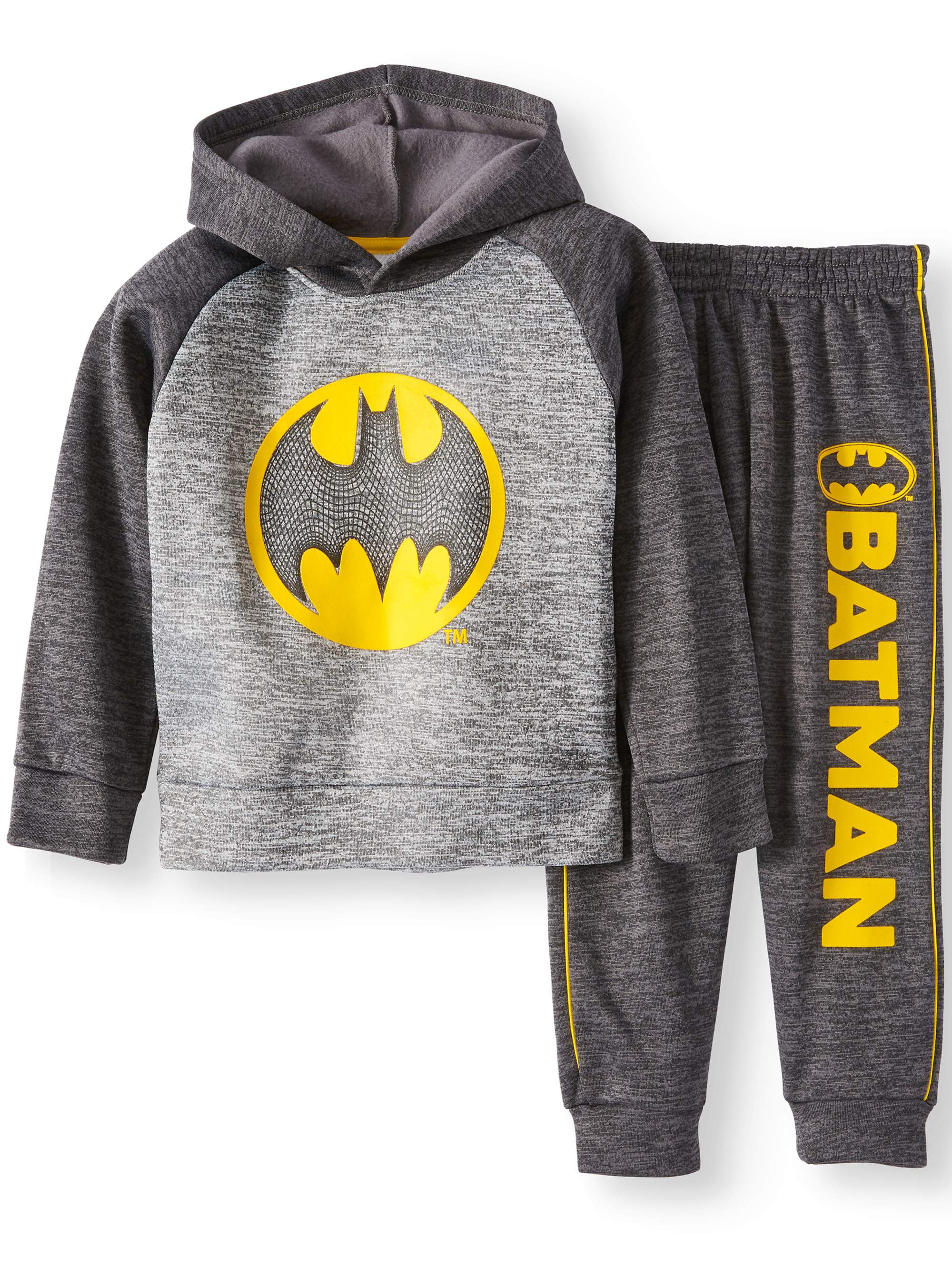 Pull Over Batman Hoodie and Jogger 2 Piece Set (Little Boys) by Isaac Morris Ltd.