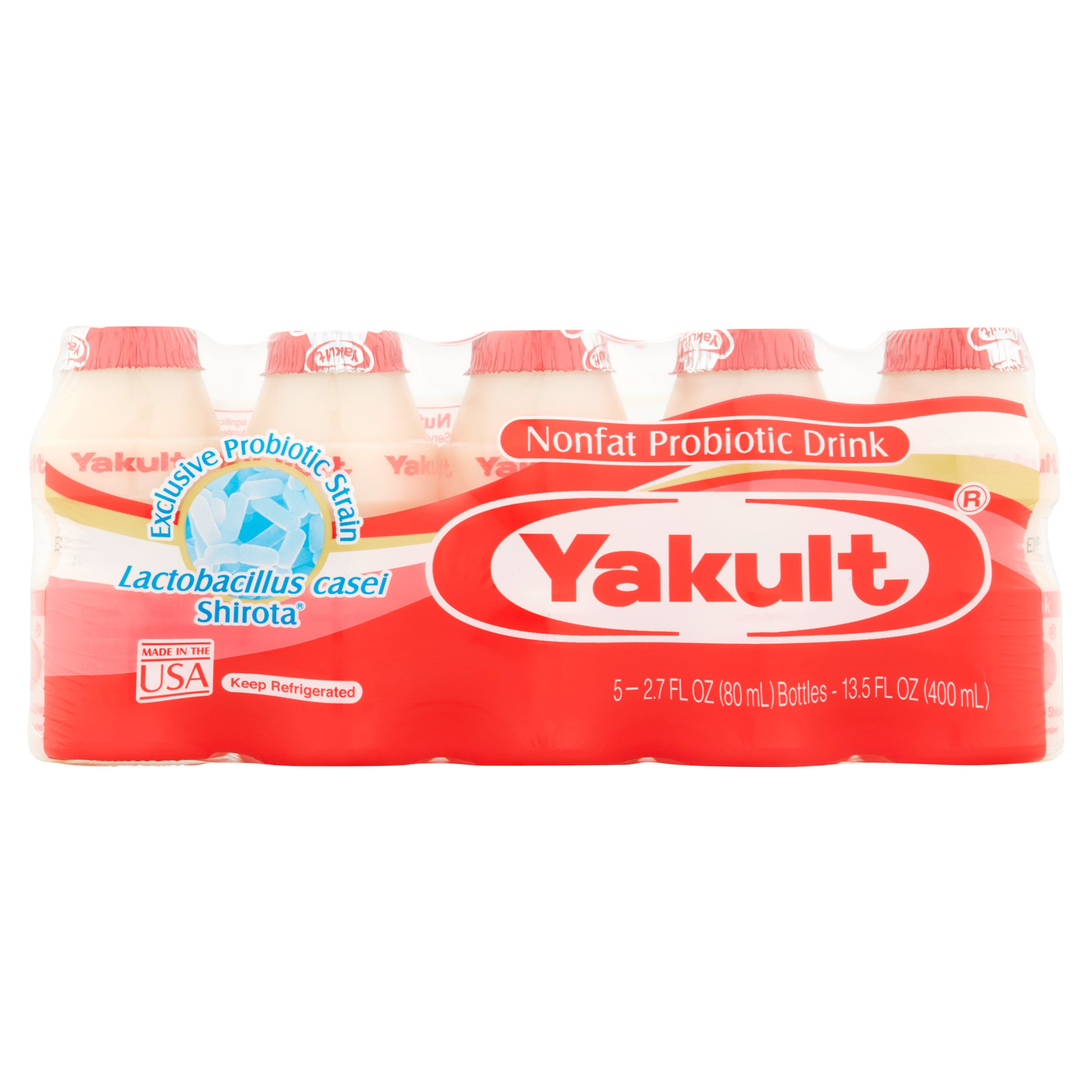 Yakult Cultured Probiotic Dairy Beverage, 2.7 fl oz, 5 ct - Walmart.com