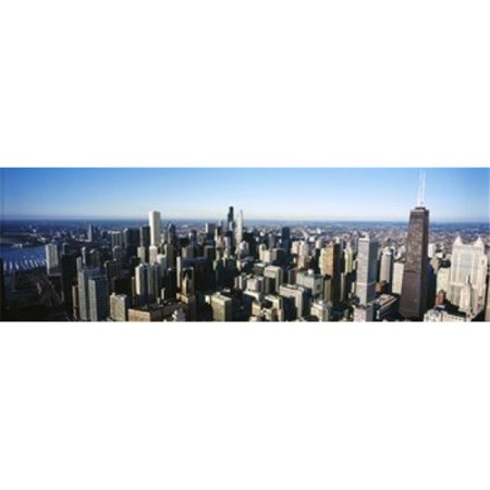 Panoramic Images PPI134512L Skyscrapers in a city  Hancock Building  Lake Michigan  Chicago  Cook County  Illinois  USA 2011 Poster Print by Panoramic Images - 36 x 12 - Halloween City In Michigan