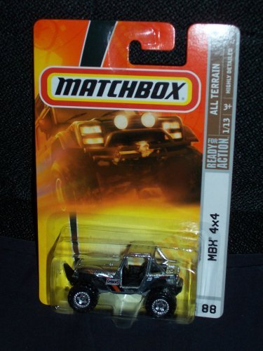 2008 88 All Terrain Series # 1 of 13 MBX 4X4 Silver, By Matchbox by