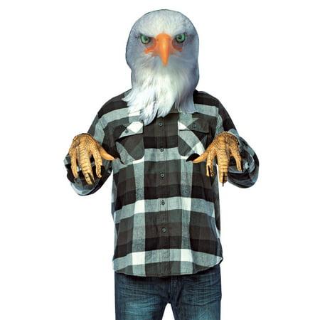 Adult Eagle Costume (Orange and White Eagle Unisex Adult Halloween Mask Kit Costume Accessory - One)