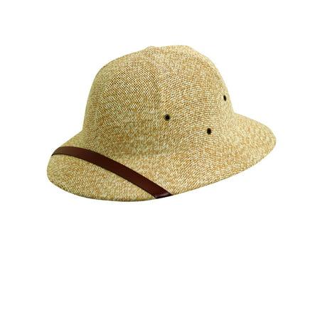 Dorfman Pacific  Straw Classic Safari Pith Helmet Hat, - Cheap Pith Helmet