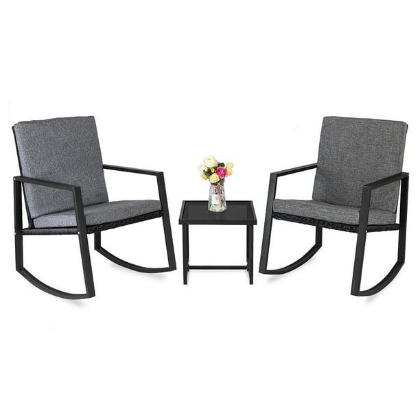 Wicker Chair Set 2021 Upgrade Outdoor, 3 Piece Wicker Patio Furniture Set