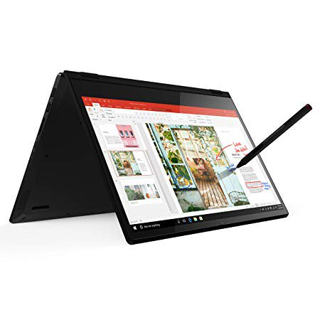 Lenovo Flex 14 2-in-1 Convertible Laptop, 14 Inch FHD Touchscreen Display, AMD Ryzen 5 3500U Processor, 12GB DDR4 RAM, 256GB NVMe SSD, Tablet Laptop, 81SS000DUS, Black, Pen
