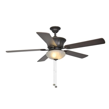 Hampton Bay Edenwilde 52 in. Oil Bronze Gold Ceiling Fan