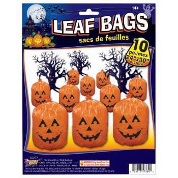 LEAF BAGS - PUMPKIN- 10PC 12 PACK