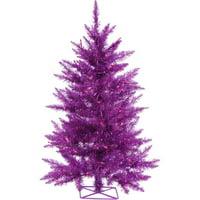3' Purple Artificial Christmas Tree with 70 Purple LED Lights