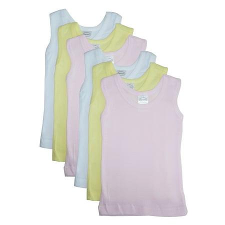 Girls's Six Pack Pastel Tank Top ()
