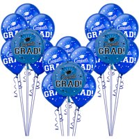 Party City Congrats Grad Latex & Mylar Balloon Kit, 22ct (Click to Select Color)
