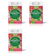 Olly Kids Quick Melt Probiotic Supplement Sticks, Wacky Watermelon, 16 Count (Pack of 3)