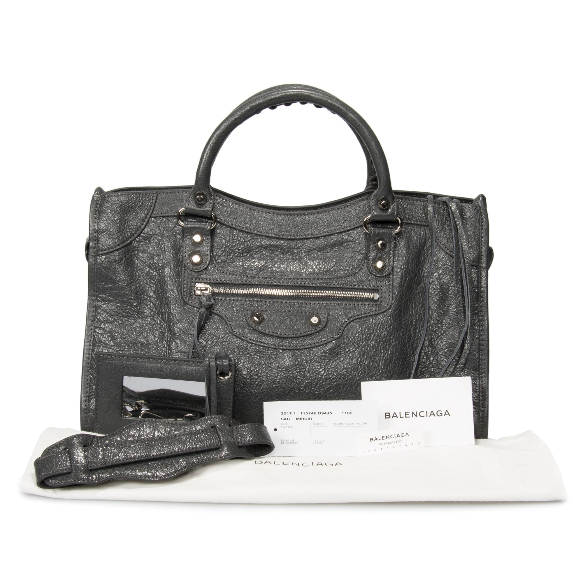 7e02bfe47b Balenciaga Classic City Bag | Fossil Gray with Silver Hardware | Medium -  Walmart.com