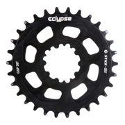 Eclypse, Glide-Pro Stick Em DM, 28T, 9-11sp, Direct Mount, Chainring, Alloy, Black