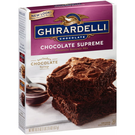 (4 Pack) Ghirardelli Chocolate Supreme Premium Brownie Mix, 18.75 oz - Halloween Chocolate Brownies